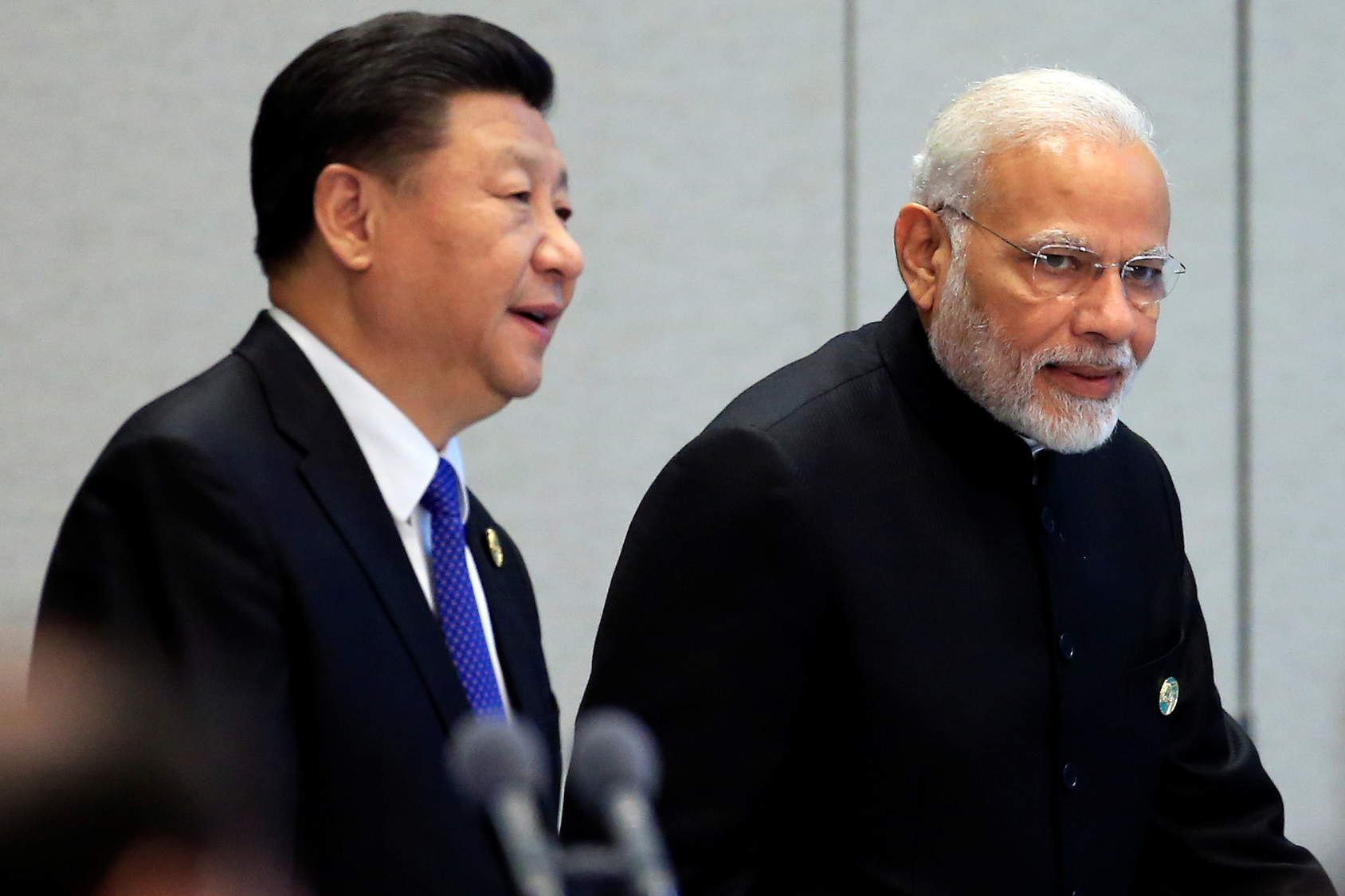 China's President Xi Jinping and India's Prime Minister Narendra Modi together in June 2018. Photo: Reuters / Aly Song