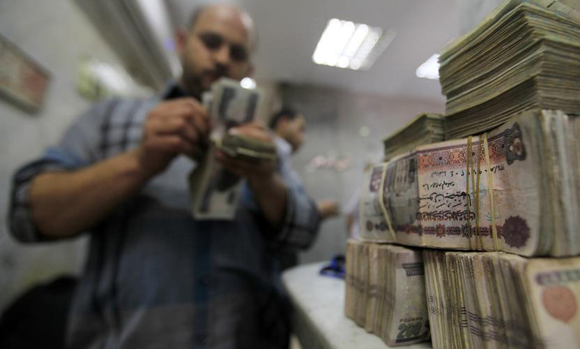 An employee counts money at an exchange office in downtown Cairo June 5, 2014. Egypt's finance ministry is studying the possibility of issuing its first international bond since 2010, two officials told Reuters, as investor confidence in the country gradually returns after the turmoil which followed the 2011 revolution. REUTERS/Amr Abdallah Dalsh