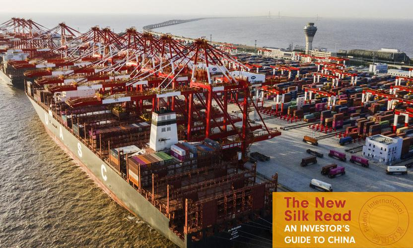 Container ships call at Shanghai's Yangshan port on March 22.
