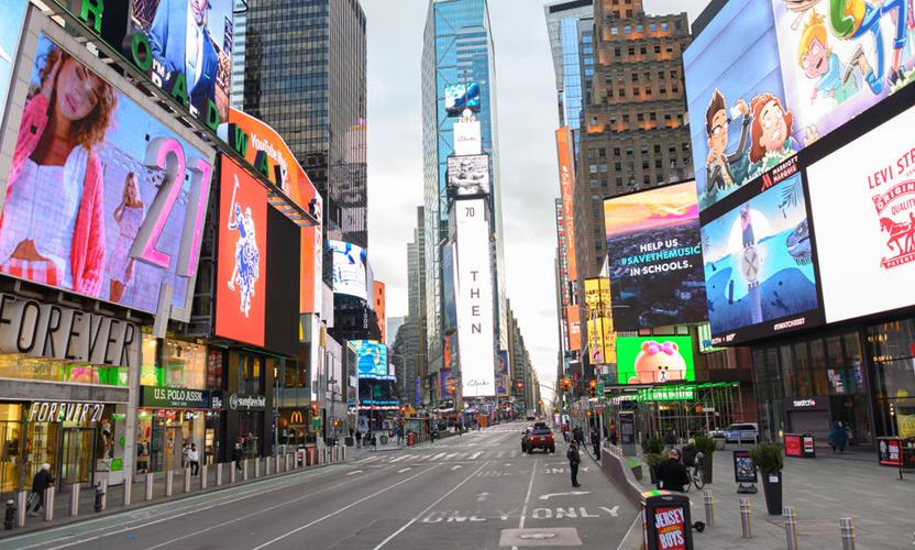 Times Square on March 22, 2020 in New York City